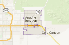 Apache Junction on map